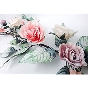 """Wedding Flowers 38"""" Metallic Crinkle Magnolia Dogwood Swag Artificial Silk Home Party Decoration 9"""