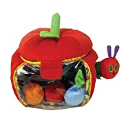 The World of Eric Carle, The Very Hungry Caterpillar Plush Apple Playset, 7