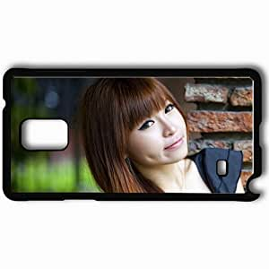 Personalized Samsung Note 4 Cell phone Case/Cover Skin Asian Eyes Smile Young Black
