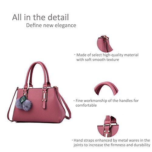 Portátil Messenger Femenina Rosado RUIREN de Bolsa Shoulder Compras Bag Xx44tO