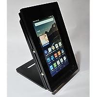 Amazon Fire 7 Security Anti-Theft Acrylic VESA Enclosure with Desktop Stand (Black)