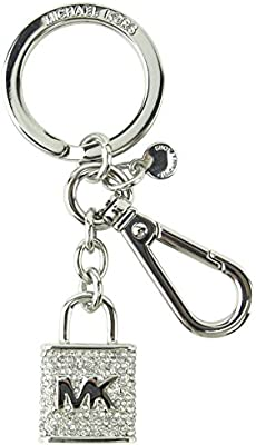 Michael Kors Pave Lock and Key FOB Key Chain in Silver 2903