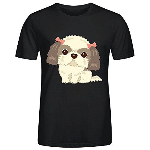 Shih Tzu S04 Man's T Shirts Black