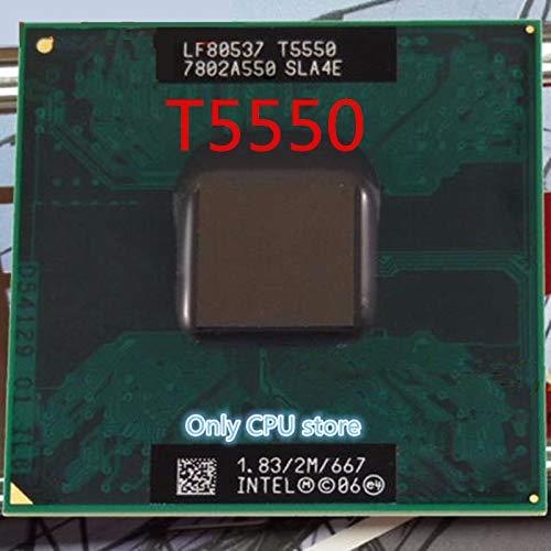 SAUJNN Intel Laptop CPU T5550 Core 2 Duo Processor SLA4E 1.83GHz/2M/667