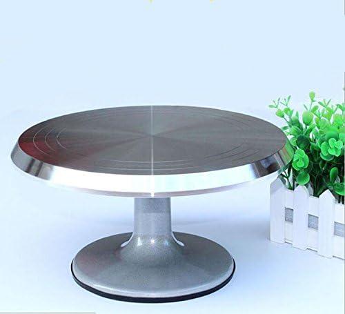 Sz5cgjmy Professional Heavy Duty Aluminum Alloy Cake Decorating Turntable Turn Table Round 12 Amazon De Kuche Haushalt