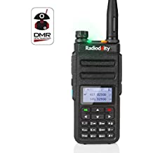 Radioddity GD-77 Dual Band Dual Time Slot DMR Digital/Analog Two Way Radio 136-174/400-470MHz 1024 Channels Ham Amateur Radio Compatible with MOTOTRBO, Free Programming Cable