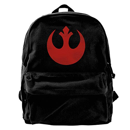 (WUHONZS Canvas Backpack Rebel Alliance Rucksack Gym Hiking Laptop Shoulder Bag Daypack for Men Women)