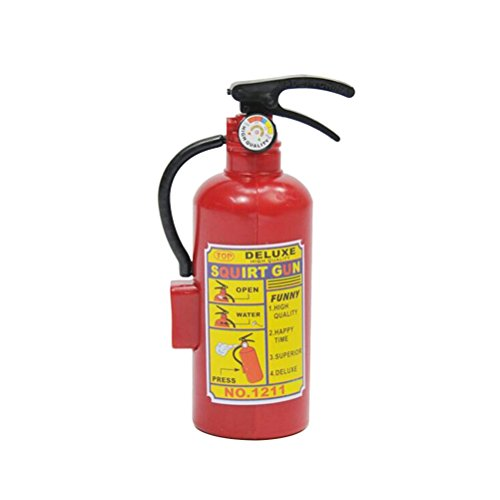 Novelty Toy Fire Extinguisher Water Gun Toy Summer Beach Bath Swim Toy for Kids Play Children Boys Girls Gift Toys (Red)]()