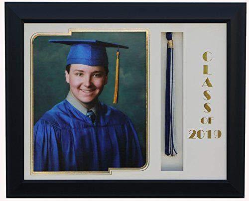 (3art Graduation Tassel 8x10 Picture Frame Black/White 2019 (Customizable))