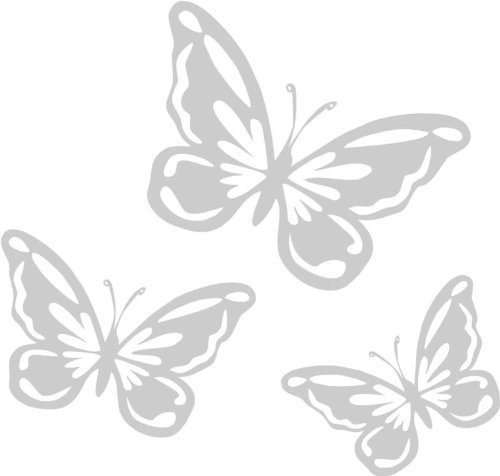 Butterfly Etched Effect, Frosted Vinyl Window Stickers LightningSigns EXPSFD009841 HS27