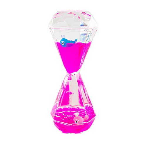 Colorful Liquid Motion Bubbler Desk Sensory Toy Timer Floating Marine Life Animals for Play, Fidgeting, Captivating Distraction by Super Z Outlet (Whale)