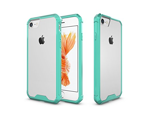 Price comparison product image iPhone 8 Case, iPhone 7 Case, iPhone 7 Clear Case,iPhone 8 Transparent Clear Shell with Full Protective Sleeve Case for Apple Iphone 7(2016) and Apple iPhone 8(2017) (Green)
