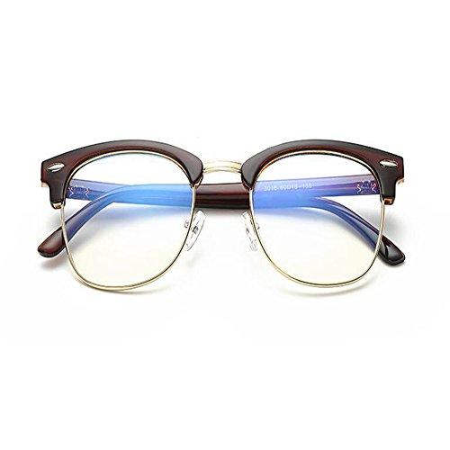 luz Anti fatiga Hombre de Filtro Gafas azul Protectoras Gafas Mujer para Xinvision Claro Marrón Moda Lente gaming tBUwqYg