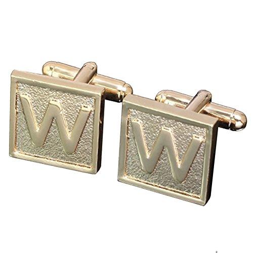 Gold Tone Square Cufflinks - 8