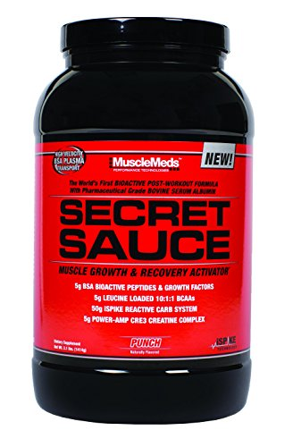 MuscleMeds Secret Sauce Post-Workout Muscle Growth and Recovery Activator, Punch, 3.1 Pound