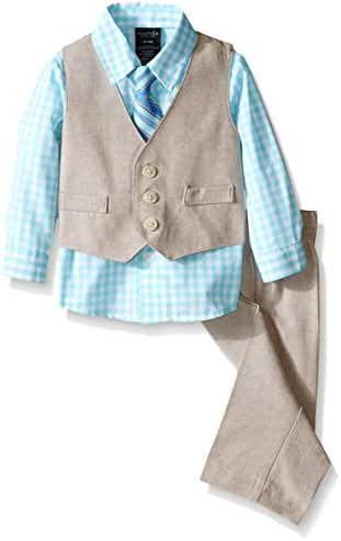 Nautica Baby Boys' Linen Look Vest Set