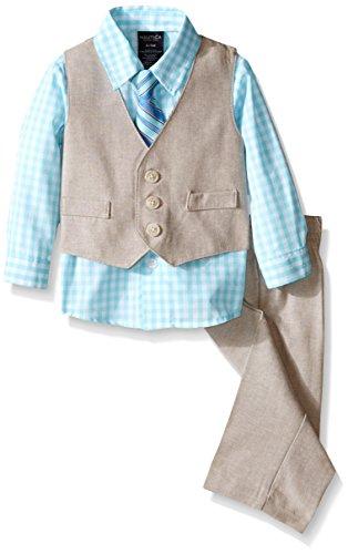 Nautica Baby Boys Linen Look