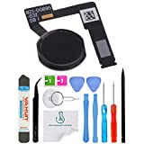 OmniRepairs Home Button Flex Cable Replacement with Rubber Gasket for iPad Pro (10.5) Models A1701 and A1709 with Repair Toolkit (Black/Gray)