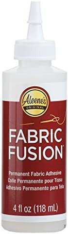 Aleene's 23473 Fabric Fusion Permanent Fabric Adhesive ,Clear