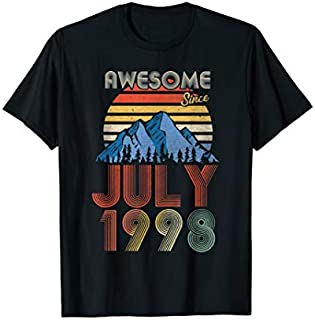 July Awesome Since 1998  21 Years Old 21st Birthday T-shirt   Size S - 5XL