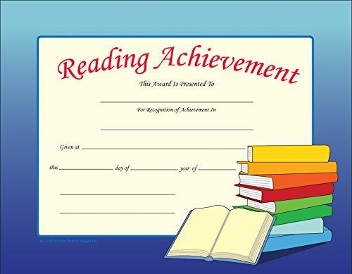 - Reading Achievement Recognition Certificates