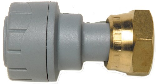 Polyplumb Straight Tap Connector with Brass Nut 22mm x 3/4-inch (Pack of 3) - ()
