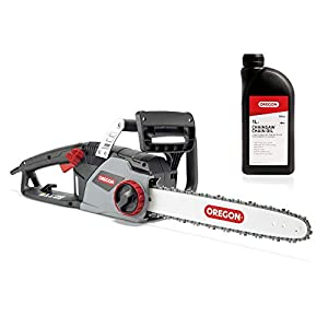 CS1400 Electric Chainsaw with 16-Inch (40 cm) Guide Bar and Oregon Duracut Saw Chain with 1L Chain Oil