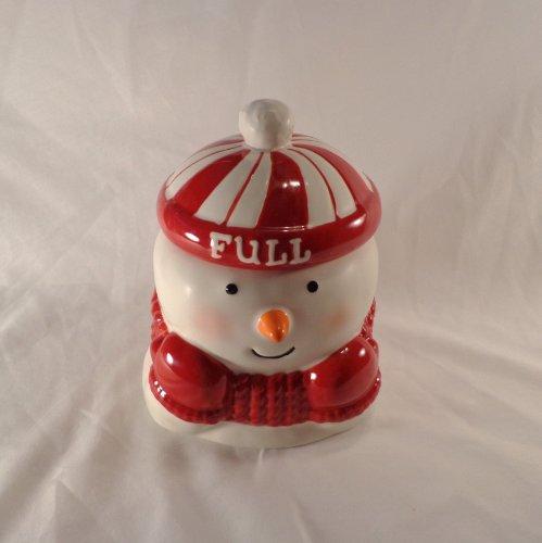 COOKIE JAR ~ EMPTY FULL SNOWMAN (Hallmark Cookie Jars)