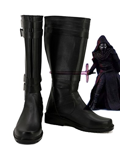 Kylo Details Ren Costume (Star Wars: The Force Awakens Movie Kylo Ren Cosplay Shoes Sith Cosplay Boots New Style More)