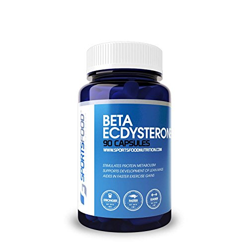 Sports Food Beta Ecdysterone - Natural Muscle Growth & Weight Loss Supplement - 99% Standardized 300mg x 90 Capsules - Supports Higher Lean Muscle Mass and Weight Loss