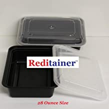 Reditainer - 6X8 Rectangular Food Storage Containers With Lids - Microwaveable & Dishwasher Safe (15, 28 OUNCE)