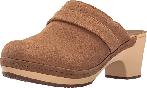crocs Women's Sarah Suede Clog Mule, Hazelnut, 7 M US - Genuine Leather Croc