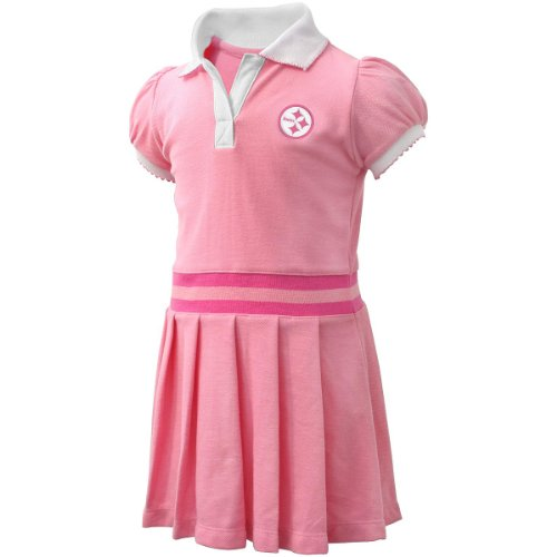 NFL Pittsburgh Steelers Infant Girls Pleated Sundress - Pink (12 Months)