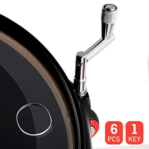 Makanu Drum Damper Gel Pads 6 Pieces,Drum Gel Pads,Drum Dampening Gel,Drum Tone Control,Drum Damper With 1 Drum Key Free- Clear