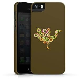 Carcasa Design Funda para Apple iPhone 5 S PremiumCase white - Circle Bird