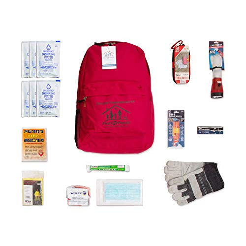 Person 1 Aid First (First My Family 1PKIT All-in-One Single Person Premium Disaster Preparedness Survival Kit with 72 Hours of Survival and First-Aid Supplies)