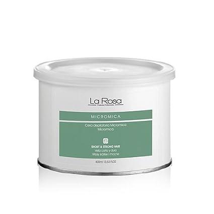 La Rosa cera en lata micromica para el vello corto y fuerte - 400 ml