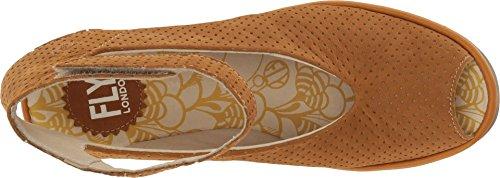 Fly Londra Donna Yala Perforato Sandalo Con Zeppa Miele Cupido