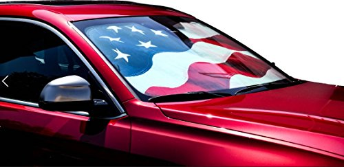 Driver Mods US Flag Custom Car Sun Shade Windshield For Jaguar 1992-1995 XJS - Fits only Coupe/Convertible by Driver Mods