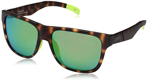 Smith Optics Lowdown Chromapop Sunglasses, Matte Tortoise Neon, Sun green Mirror (Sunglasses Smith Lowdown)