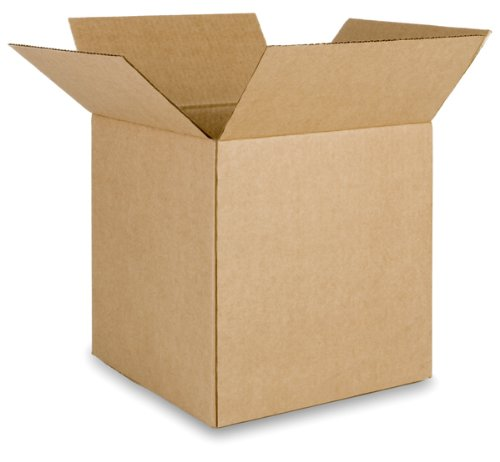 EcoBox Brand Corrugated Shipping Box 12 x 12 x 12 Inches, Pack of 25 (V-8705)