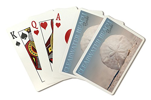 Clearwater Beach   Florida   Sand Dollar On Beach  Playing Card Deck   52 Card Poker Size With Jokers