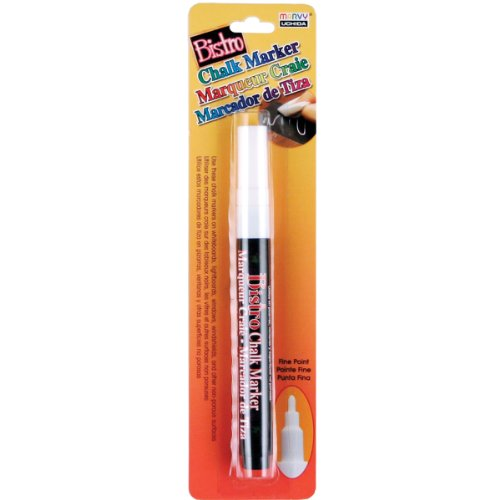 (Uchida Of America 482-C-0 Fine Point Bistro Chalk Marker, White)