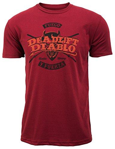 Jumpbox Fitness Deadlift Diablo - Brick Red - Men's Barbell Weightlifting Workout T-shirt