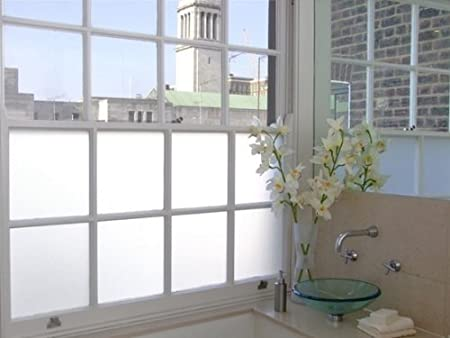White privacy frosted glass film window film 2m x 1m
