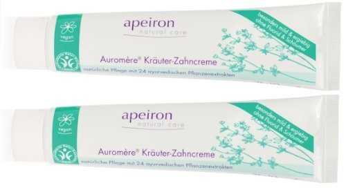 Apeiron Auromere Kräuterzahnpasta Zahnpasta Kräuterzahncreme 2x 75 ml Doppelpack