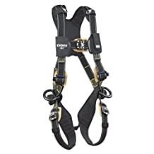 3M DBI-SALA ExoFit NEX 1103073 Nomex/Kevlar Full Body Harness, PVC Coated Alum Back/Side D-Ring's,Comfort Padding, Locking Quick Connect Buckle Leg Straps, X-Large, Black