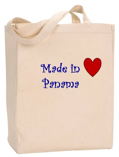 MADE IN PANAMA - Country Series - Natural Canvas Tote Bag with - Shopping City In Panama