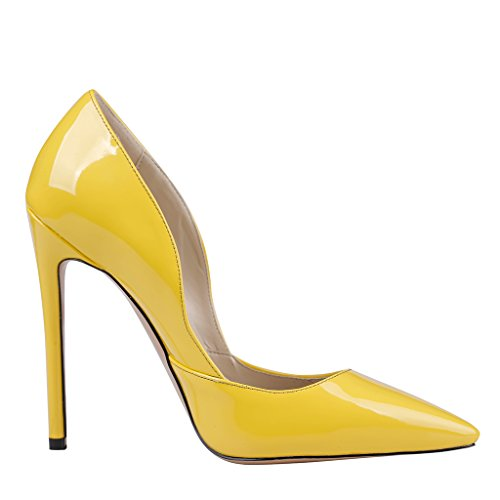 Scarpe lackleder Tacco Giallo Donna gelb Con Eks nYgwzd1qY