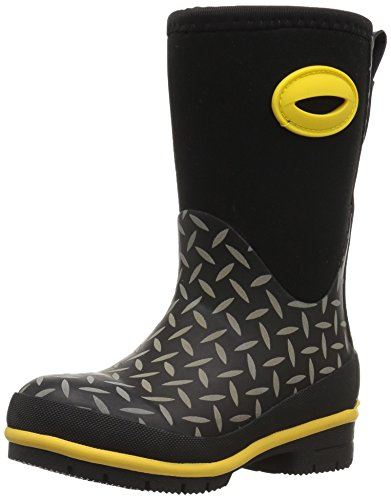 Western Chief Kids Cold Rated Neoprene Boot With Memory Foam, Diamond Plate, 1 M US Little Kid (1 Plate 1 Girl)